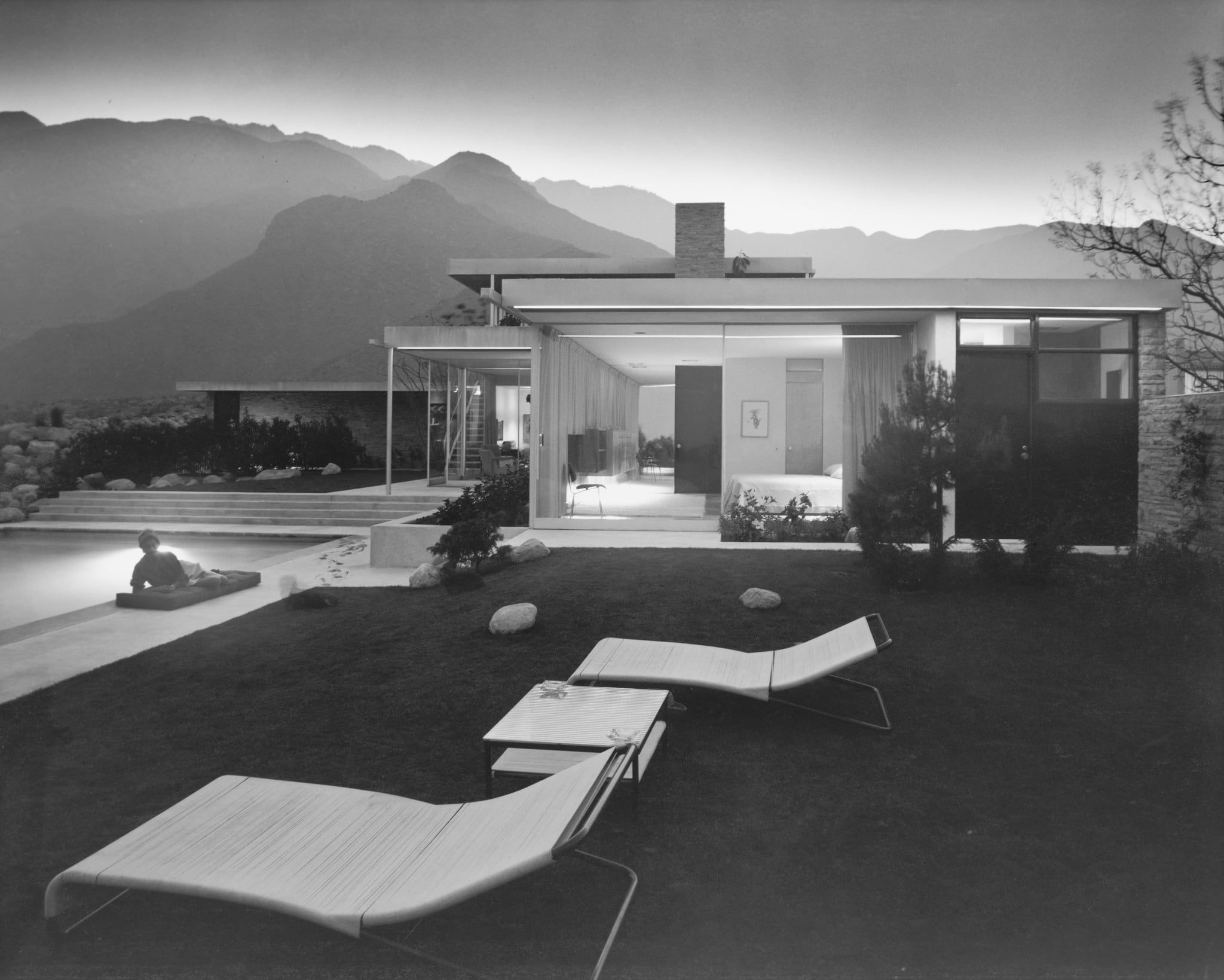 Iconic modern architecture by Richard Neutra, photographed by Julius Shulman in Palm Springs